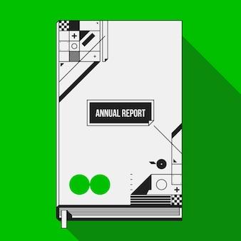 Copertina del libro / modello di progettazione di stampa con forme geometriche astratte. utile per banner, copertine e poster.