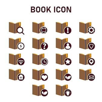 Disegno dell'icona del libro. concetto di icona di stile di design piatto