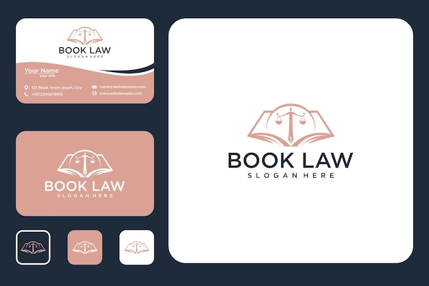 Design del logo e biglietto da visita della legge del libro