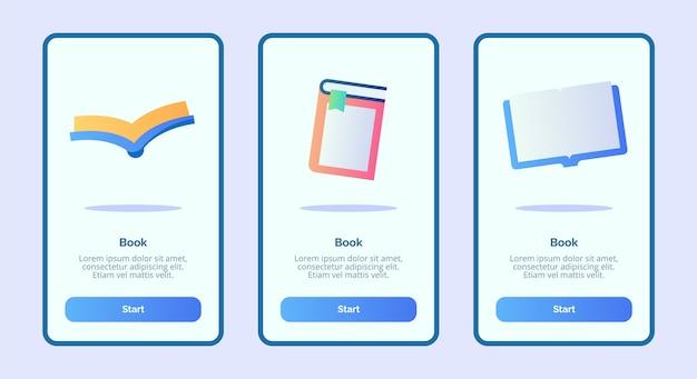 Prenota per pagina banner modello di app mobili