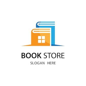 Illustrazione del modello di logo del negozio di libri