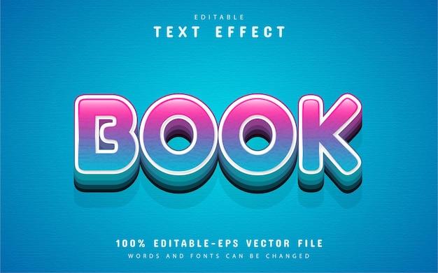 Testo del libro, effetto di testo in stile cartone animato