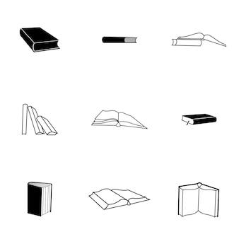 Prenota vettore. l'illustrazione semplice del libro, gli elementi modificabili, possono essere utilizzati nella progettazione del logo