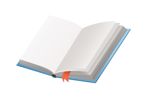 Libro con segnalibro isolare su bianco