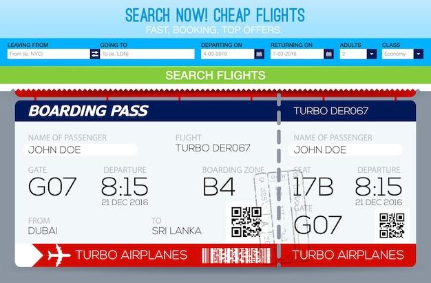 Prenotazione biglietti modello di volo. cerca voli. biglietti modello