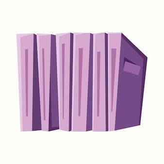 Libri in fila. illustrazione vettoriale in stile piatto