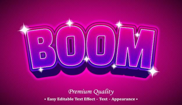 Boom effetto stile testo modificabile