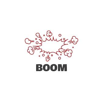 Concetto di design grafico del logo boom. elemento boom modificabile, può essere utilizzato come logo, icona, modello nel web e stampa