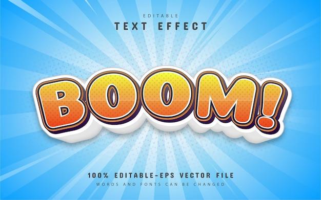 Boom text, effetto testo in stile fumetto