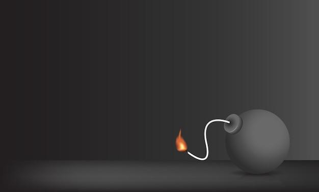 Vettore di boom con sfondo nero