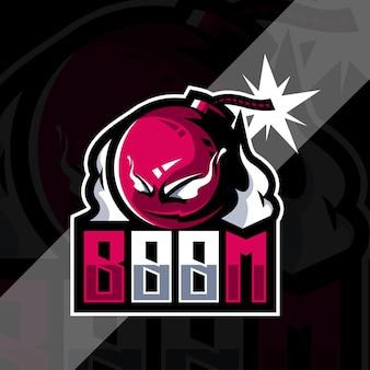 Modello di progettazione di esports logo mascotte boomber
