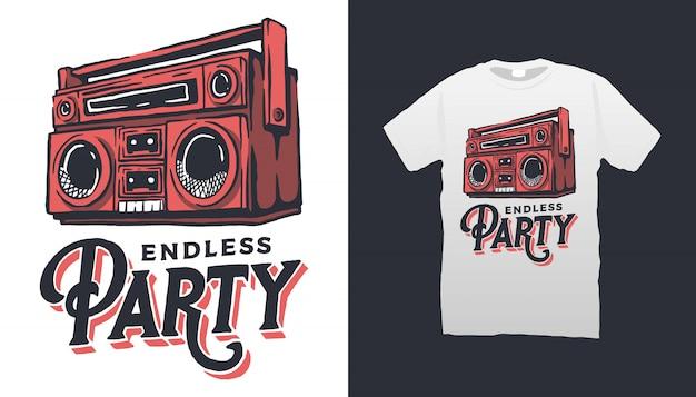 Boombox tshirt design