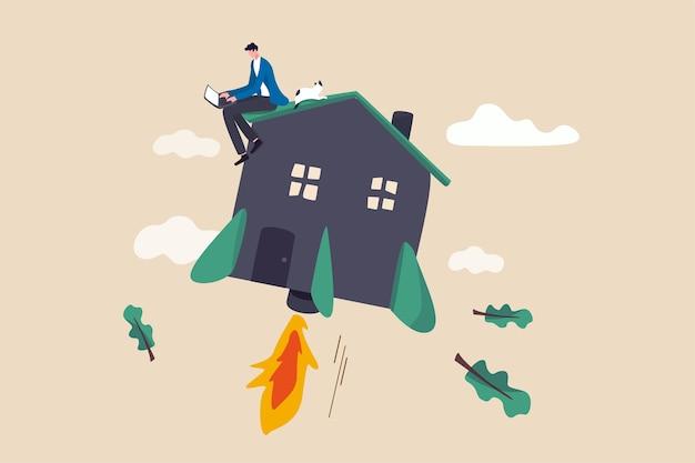 Aumenta la produttività lavorando da casa, motivazione per aumentare l'efficienza lavorando a casa nel concetto di blocco covid-19