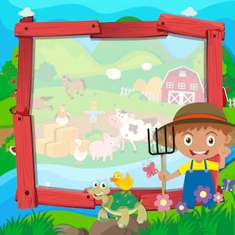 Progettazione del confine con contadini e animali