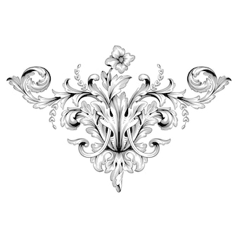 Bordo e cornice in stile barocco