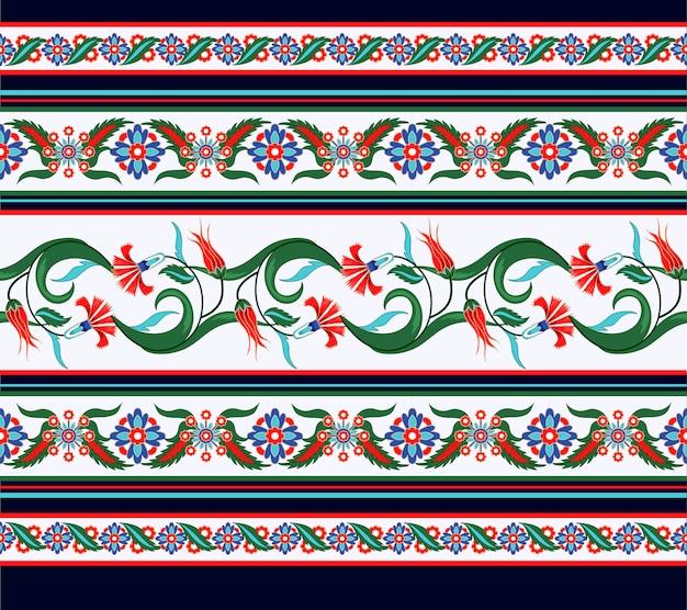 Confine senza soluzione di continuità con elementi di ornamento turco e arabo.