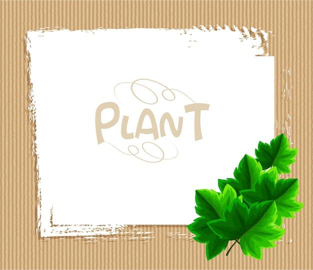 Modello di bordo con foglie di edera