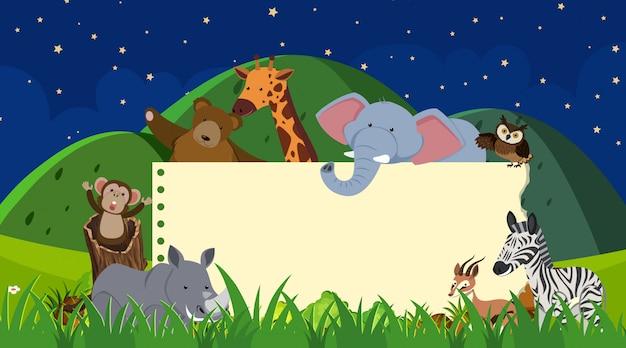 Modello di confine con animali selvatici