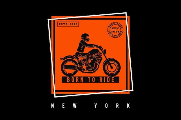 Nato per cavalcare new york, design in stile nevischio