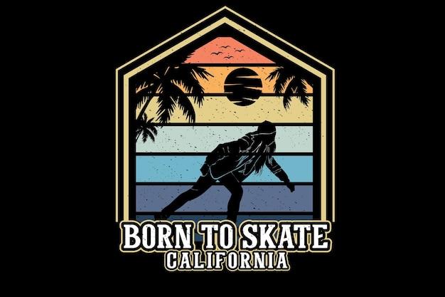 Nato per pattinare in california silhouette design