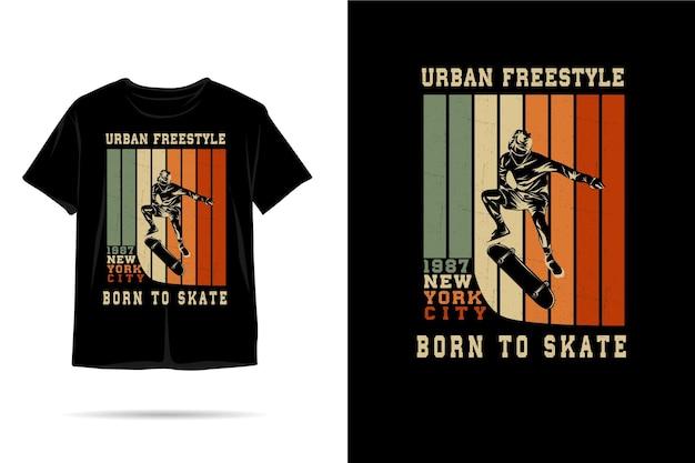 Nato per pattinare silhouette tshirt design