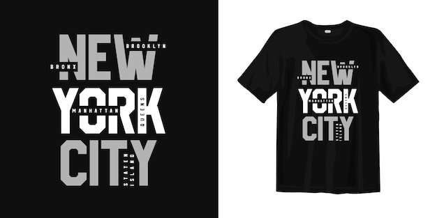 Distretto di new york city usa. t-shirt design tipografia urban style wear