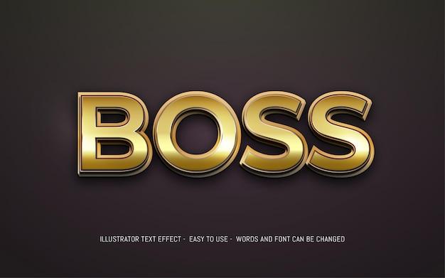 Boss 3d testo modificabile modello effetto stile