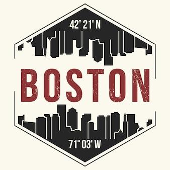 Boston sullo sfondo della città