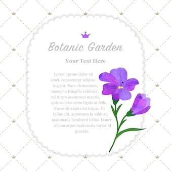 Cornice del giardino botanico viola fresia