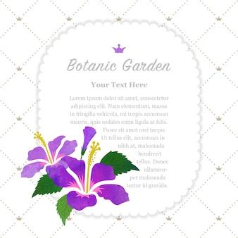 Ibisco viola cornice giardino botanico