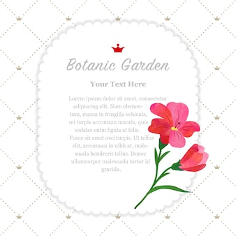 Cornice del giardino botanico fresia rossa