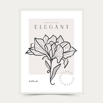 Arti murali astratte botaniche. collezione di poster floreali vettoriali.