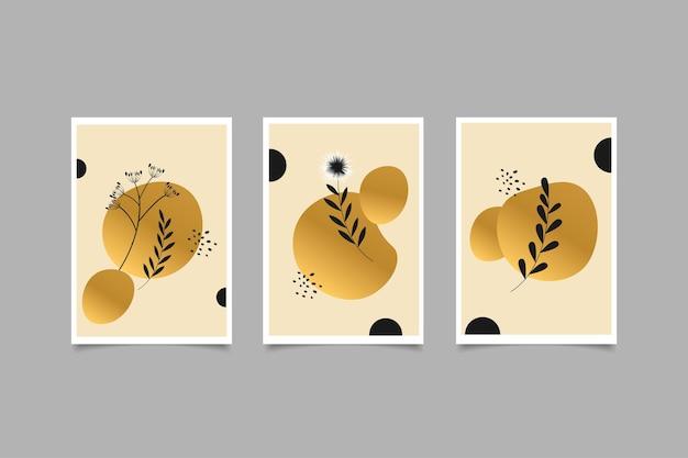 Disegno a mano di copertina botanica