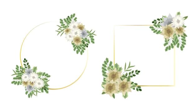 Biglietto di auguri con invito di fiori botanici per eventi di decorazione di nozze