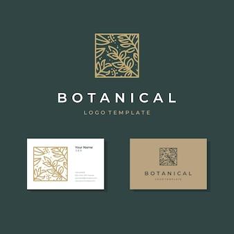 Modello di logo del giardino botanico