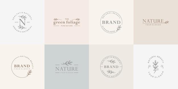 Collezione di logo botanico