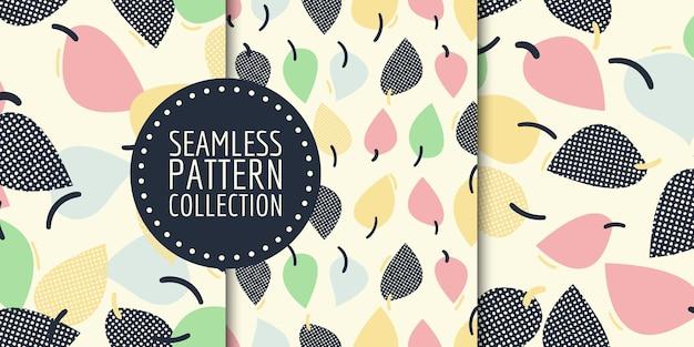 Collezione botanica senza cuciture. disegno vettoriale per carta, tessuto, decorazioni d'interni e copertina