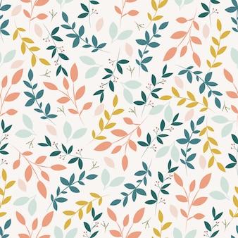 Modello senza cuciture botanico sfondo floreale sfondo botanico