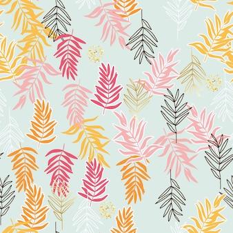 Modello senza cuciture botanico. disegno vettoriale per carta, tessuto, decorazioni d'interni e copertina