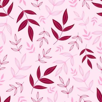 Modello senza cuciture botanico con foglie verdi. sfondi di foglie e fiori. sfondo di fiori.