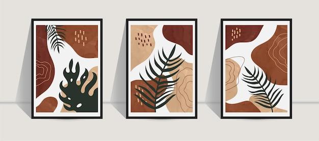 Set di arte della parete botanica