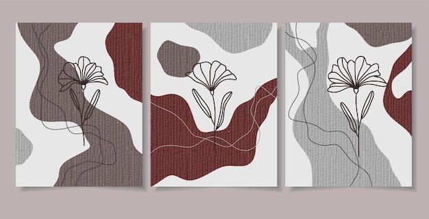 Insieme botanico di vettore di arte della parete