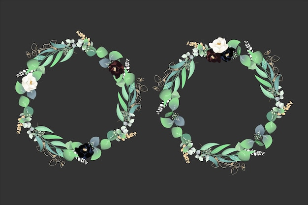Sfondo di cornici floreali ghirlanda botanica