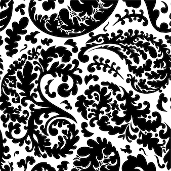 Reticolo senza giunte del fogliame di botanica, rami e ramoscelli con foglie. stampa o sfondo incolore, trama o tessuto, flora naturale dettagliata. fioritura e fioritura primaverile, vettore in stile piatto