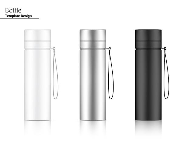 Bottiglia 3d realistic plastic shaker set Vettore Premium