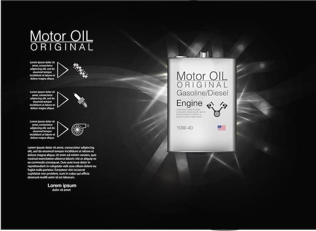 Illustrazione della priorità bassa dell'olio motore della bottiglia