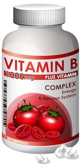 Una bottiglia di vitamina b