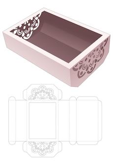 Ciotola inferiore smussata con sagoma fustellata mandala stampata
