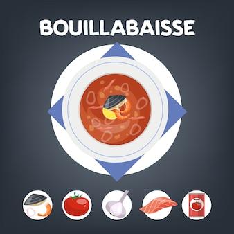 Ricetta zuppa bouillabaisse per cucinare a casa