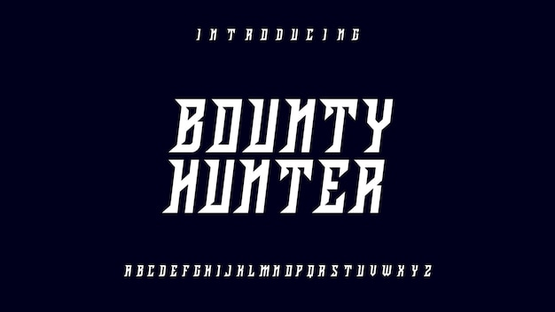 Bounty hunter font